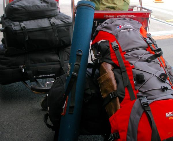 2010年1月某日。自由への離陸直前。これだけの荷物で移住生活がスタートした。