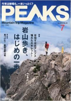 登山雑誌 PEAKS 2013年7月号